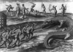 Native American Indians Killing Alligators