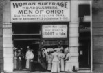 Photo of Woman Suffrage Headquarters in Upper Euclid Avenue, Cleveland