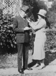 Mrs. Calvin Coolidge Enrolls the President in the American Red Cross
