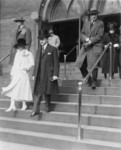President and Mrs. Coolidge Leaving First Congregational Church