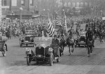 President Coolidge Riding in a Car During the Inaugural Parade