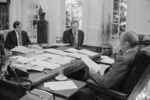 President Gerald Ford With Staff in His Office