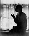 Miss Ester Cochran Lighting Cigarette