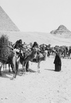 Caravan of Bedouins by the Egyptian Pyramids