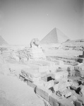 The Great Sphinx, Courtyard and Egyptian Pyramids