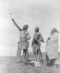 Apsaroke Men With Rifles and Skull