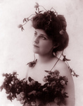 Woman with Clover Flowers in Her Hair