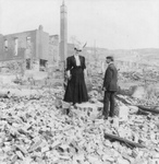 Man and Woman in Rubble