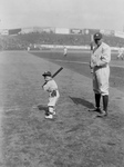 Babe Ruth and Little Mascot