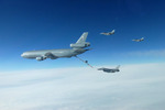 F-16 Fighting Falcons and KC-10 Extender