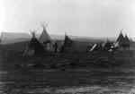 Indian Encampment With Tipis