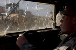 Damaged Humvee Windshield