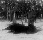 Man With Killed Buffalo