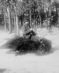 Hunter Sitting on His Buffalo