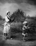 Woman and Child in Dutch Costumes