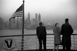 Picture of People Viewing Manhattan From a Ship