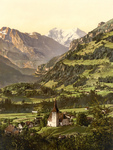 Frutigen and Balmhorn in the Swiss Alps