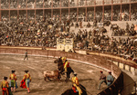Bullfighting Scene in Barcelona, Spain
