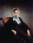 Photo of Teresa Borri Stampa Manzoni Sitting in a Chair, Wearing a Dress and Bonnet, by Francesco Hayez