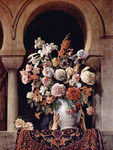 Photo of a Vase of Flowers on the Window of a Harem, by Francesco Hayez