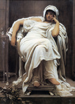 Photo of a Woman Seated in a Chair, Faticida by Frederic Lord Leighton