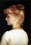 Photo of a Red Haired Girl From Behind, Looking Left by Frederic Lord Leighton