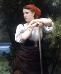 Photo of a Girl Raking Hay, the Haymaker by William-Adolphe Bouguereau