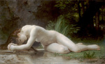 Photo of a Nude Woman Lying Over a Stream, Biblis by William-Adolphe Bouguereau