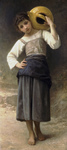 Photo of a Girl Carrying a Water Jar on Her Shoulder, by William-Adolphe Bouguereau
