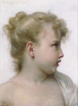 Photo of a Profile of a Little Blond Girl, by William-Adolphe Bouguereau
