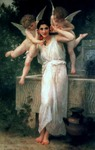 Photo of Cherubs With a Beautiful Young Woman, Youth by William-Adolphe Bouguereau