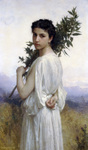 Photo of a Young Woman Holding a Laurel Branch, by William-Adolphe Bouguereau