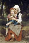 Photo of Breton Brother and Sister by William-Adolphe Bouguereau