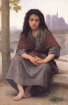 Photo of a Girl With a Violin, the Bohemian by William-Adolphe Bouguereau