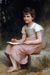 Photo of a Little Girl Writing in a Journal, A Calling, by William-Adolphe Bouguereau