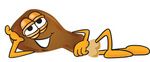 Clip Art Graphic of a Chicken Drumstick Mascot Character Resting His Head on His Hand