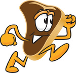 Clip Art Graphic of a Beef Steak Meat Mascot Character Running